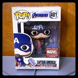 FUNKO POP! Captain America exclusive endgame bobbl